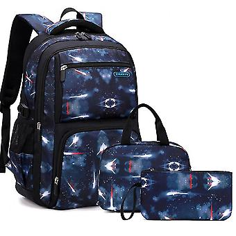 Schoolbags For Primary And Middle School Students, Boys Grades 4-8, Three-piece Backpack