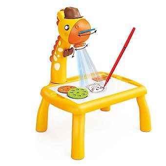 YANGFAN Projektor Malset für Kinder, Kindertisch Spielzeug Zeichenbrett