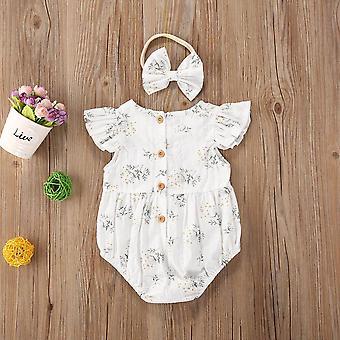 Kids Baby Clothes Floral Jumpsuit