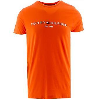 Tommy Hilfiger Orange Logo T-Shirt