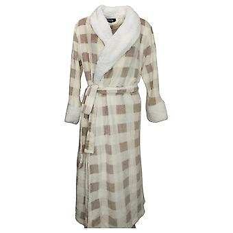 Soft & Cozy Women's M/L Robe w/Fuzzy Neck and Sleeves White 670932