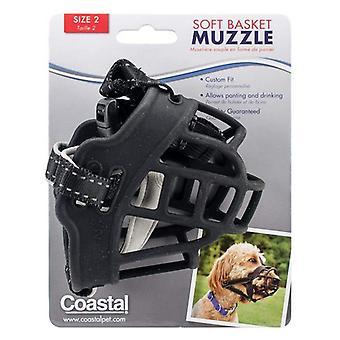 Kustdjur mjuk korg nosparti för hundar svart - Storlek 2