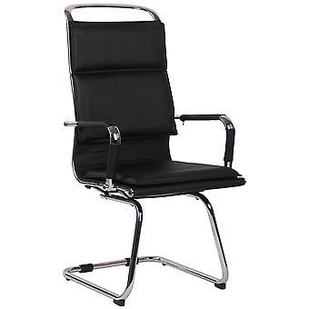 Chaise de bureau - Chaise de bureau - Bureau à domicile - Moderne - Noir - Métal - 56 cm x 66 cm x 113 cm