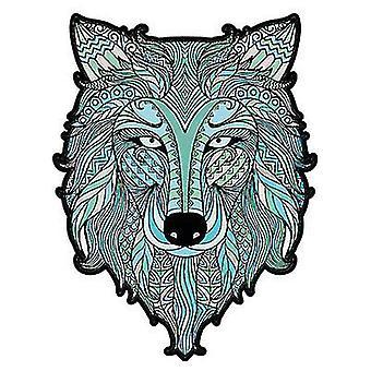 Ice Wolf Puzzle Piece Spiel für Kinder und Erwachsene(A4)