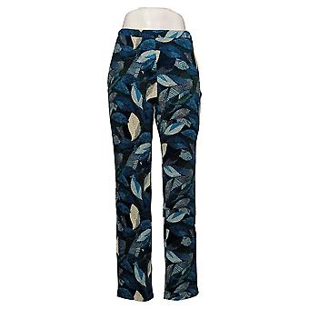 Antthony Women's Pants Printed Pull-On Blue 716564