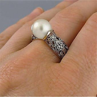 Vintage Hollow Pearl Rings