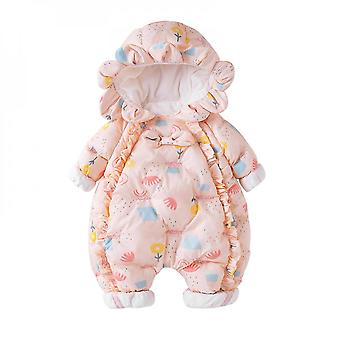 Girls' Baby Clothes Winter Children's Cotton-padded Clothes Romper Baby Onesies