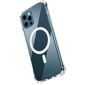 Suitable For Iphone X/xs Magnetic Mobile Phone Case Apple Transparent Airbag Anti-fall Protective Cover Hard