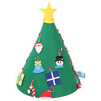 Diy 3d Huopa joulukuusi päivitetty taapero joulukuusi lapsille joulu koristelu