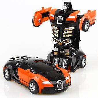 2 In 1 Verformung Roboter Kit 12-13cm Ein Schritt Verformung Spielzeug Auto Modell Kinder Spielzeug Geburtstag Geschenk-a