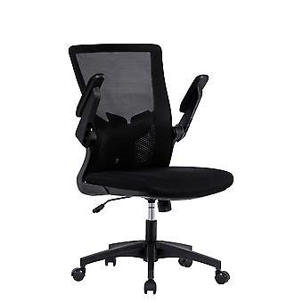 Chaise de bureau avec accoudoir pliable et support lombaire