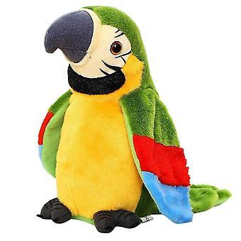 Electric Talking Parrot Stuffed Plush Bird Toy Green