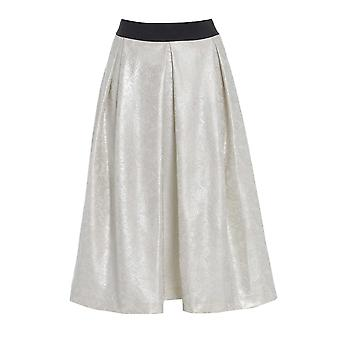 Long Flared Ivory skater Skirt SK200-8