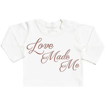 Spoilt Rotten Love Made Me Long Sleeve Baby T-Shirt Top