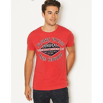 Jack og Jones Silver Lake rød T-Shirt