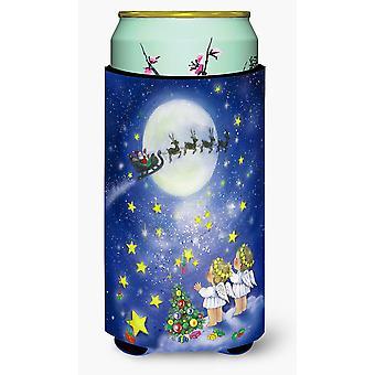 Angels watching Santa Claus Tall Boy Beverage Insulator Hugger