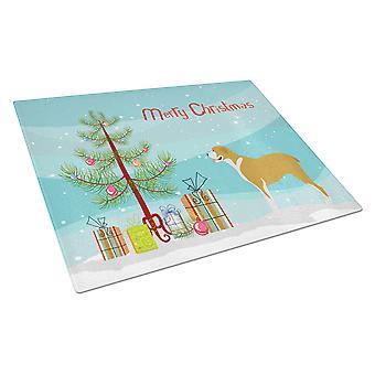 Belgium Mastiff Christmas Glass Cutting Board Large