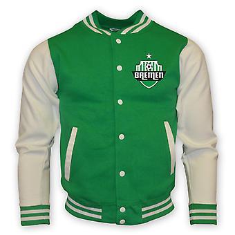 Werder Bremen College baseball jakke (grøn)-børn