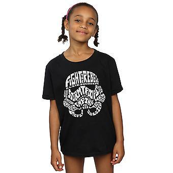 Star Wars Girls Stormtrooper Text Head T-Shirt