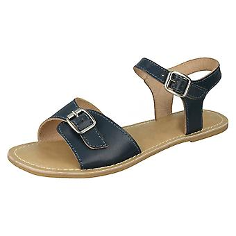 Ladies Leather Collection Ankle Strap Sandals F00149