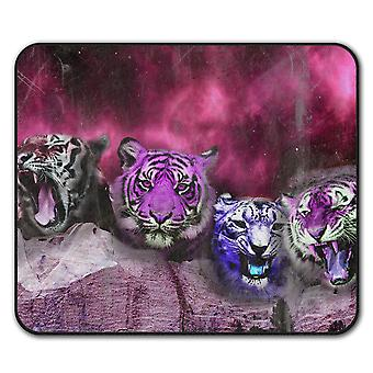 Tiger Space Beast  Non-Slip Mouse Mat Pad 24cm x 20cm | Wellcoda