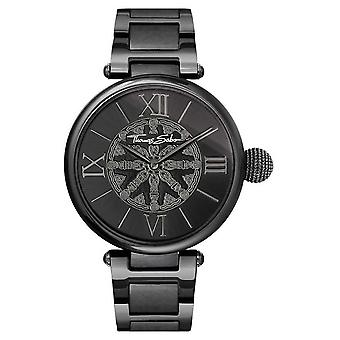 Thomas Sabo Womans Karma Black IP Steel WA0307-202-203-38