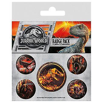 Pack de Badges 5 bouton monde Jurassique