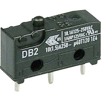 ZF Microswitch DB2C-C1AA 250 V AC 10 A 1 x On/(On) momentary 1 pc(s)