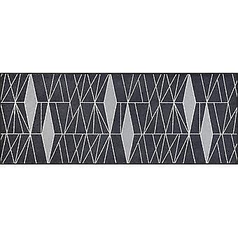 lavado + suciedad seca la estera la estera del piso lavable gris 75 x 190 cm Ampiezza