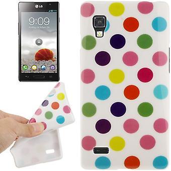 मोबाइल LG Optimus L9 के लिए मामले की सुरक्षात्मक मामले TPU अंक / P760