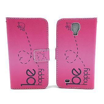Telefono cellulare custodia per cellulare Samsung Galaxy S4 essere felice rosa