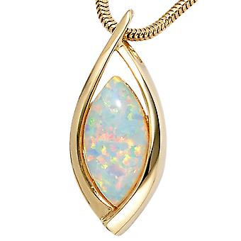 Opal pendants gold Opal pendant 375 Gold Yellow Gold 1 Opal