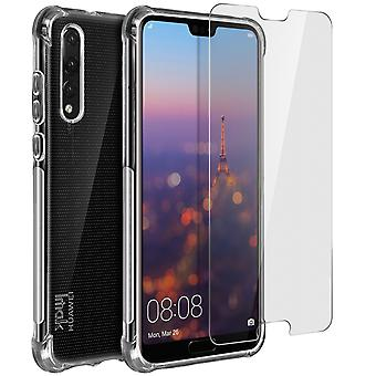 iMak full cover, ultra clear case for Huawei P20 Pro + hydrogel screen protector