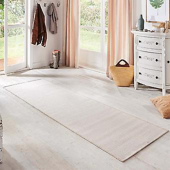 Flat fabric runner nature cream white in a sisal look