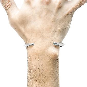 Âncora e tripulação Benson Triagonal Maxi pulseira - prata