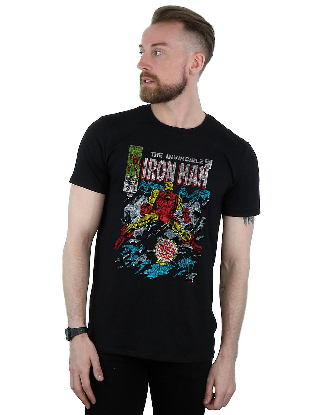 Marvel Men's Invincible Iron Man Distressed Issue One T-Shirt