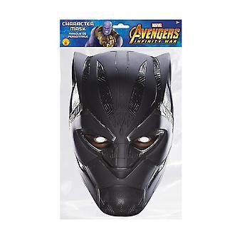 Black Panther Infinity War Officiële Marvel Single 2D Card Party Fancy Dress Mask