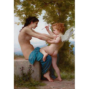 Young Girl Defending Herself, Adolphe William Bouguereau, 60x40cm