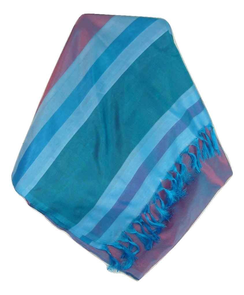 Varanasi Border Prime Silk Long Scarf Heritage Dasgupta 516 by Pashmina & Silk