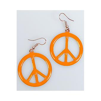 Jewelry and crowns  Peace earrings orange