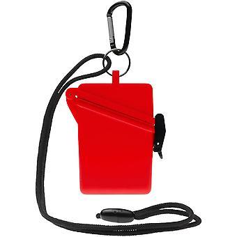 Witz Surfsafe lichtgewicht waterdichte Sport Case w / Lanyard & Carabiner - rood