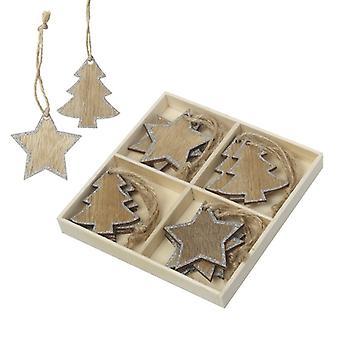Himmel sendet Baum und Stern Weihnachtsdekorationen