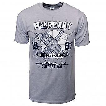 Honcho SFX Mens MacReady 1982 Outpost #31 T Shirt Heather Grey
