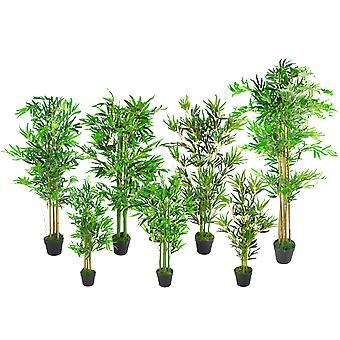 90cm (3ft) Fat Leaf Artificial Bamboo Plants Trees