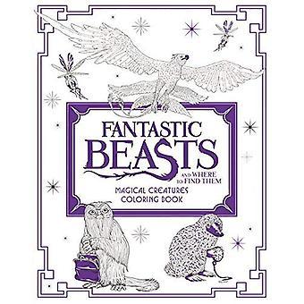 Bestie fantastiche e dove trovarli: creature magiche, libro da colorare