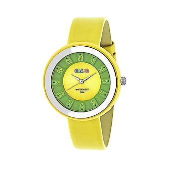Crayo celebração unisex Watch-amarelo