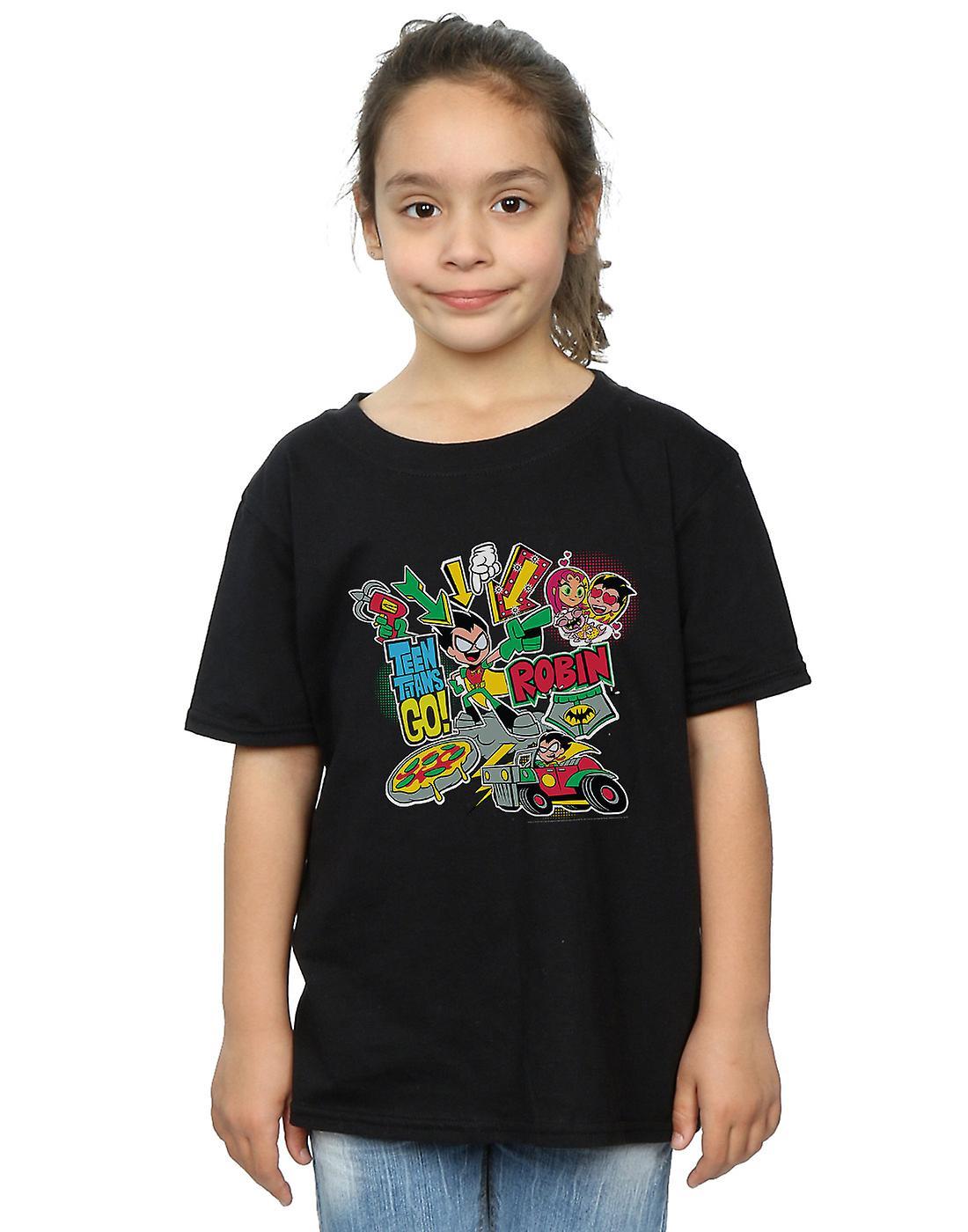DC Comics Girls Teen Titans Go Robin Montage T-Shirt