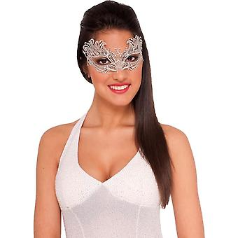 Lace Mask Silver For Masquerade
