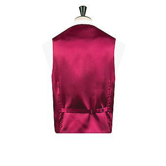 Dobell Boys Burgundy Dupion Waistcoat Regular Fit