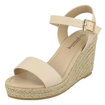 Ladies Savannah High Rope Wedge Sandals F10888